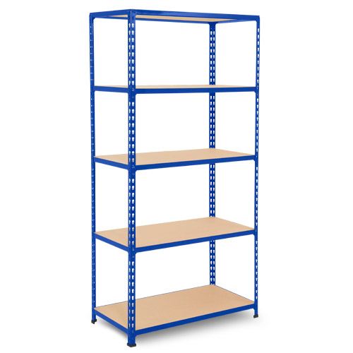 Rapid 2 Shelving (1980h x 915w) Blue - 5 Chipboard Shelves