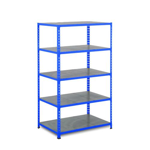 Rapid 2 Shelving (1980h x 915w) Blue - 5 Galvanized Shelves