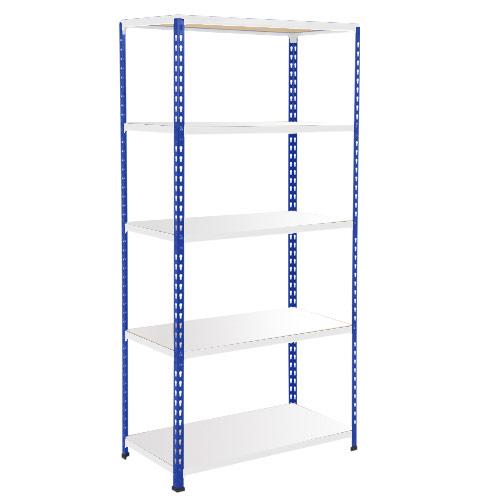 Rapid 2 Shelving (1980h x 915w) Blue & Grey - 5 Melamine Shelves
