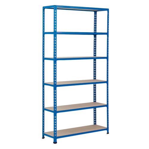 Rapid 2 Shelving (1980h x 915w) Blue - 6 Chipboard Shelves
