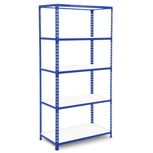 Rapid 2 Shelving (1980h x 915w) Blue - 5 Melamine Shelves