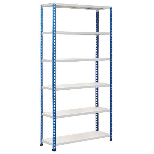 Rapid 2 Shelving (1980h x 915w) Blue & Grey - 6 Melamine Shelves