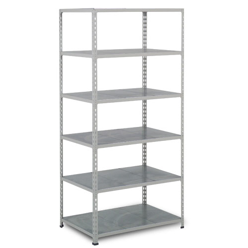 Rapid 2 Shelving (1980h x 915w) Grey - 6 Galvanized Shelves