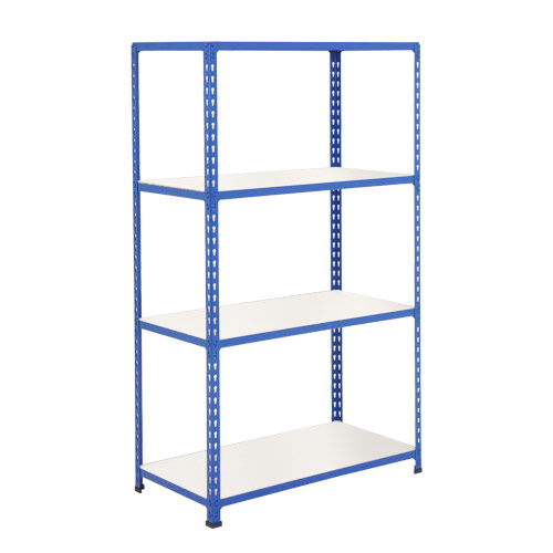Rapid 2 Shelving (1980h x 1220w) Blue - 4 Melamine Shelves
