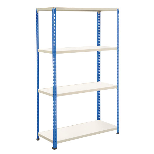 Rapid 2 Shelving (1980h x 1220w) Blue & Grey - 4 Melamine Shelves