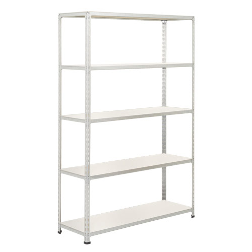 Rapid 2 Shelving (1980h x 1525w) Grey - 5 Melamine Shelves