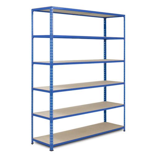 Rapid 2 Shelving (1980h x 1525w) Blue - 6 Chipboard Shelves