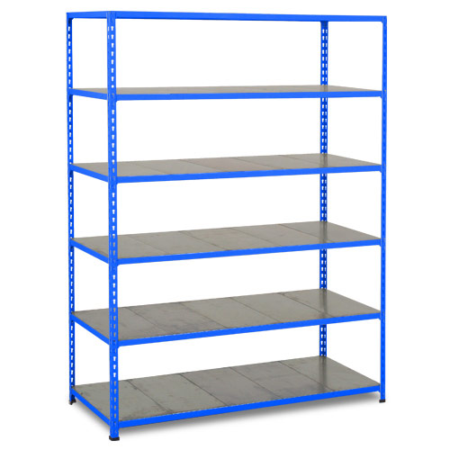 Rapid 2 Shelving (1980h x 1525w) Blue - 6 Galvanized Shelves