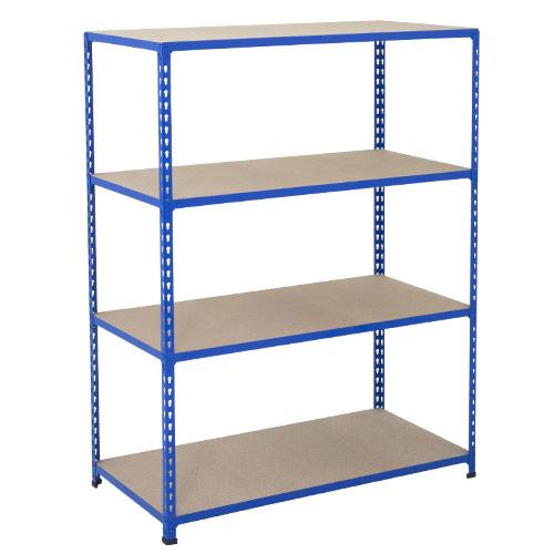 Rapid 2 Shelving (1980h x 1525w) Blue - 4 Chipboard Shelves