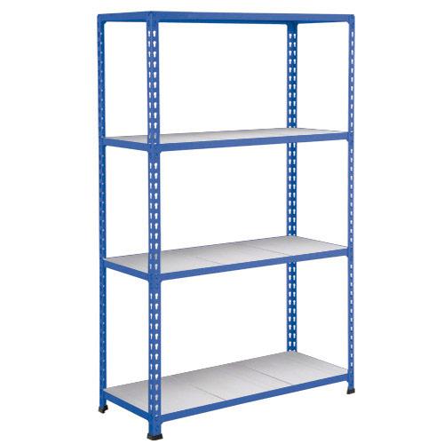 Rapid 2 Shelving (1980h x 1525w) Blue - 4 Galvanized Shelves