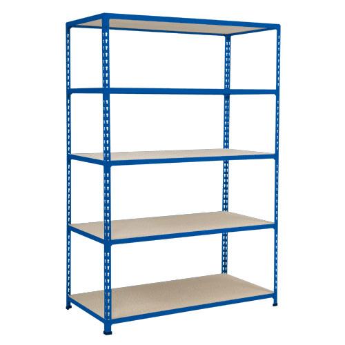 Rapid 2 Shelving (1980h x 1525w) Blue - 5 Chipboard Shelves