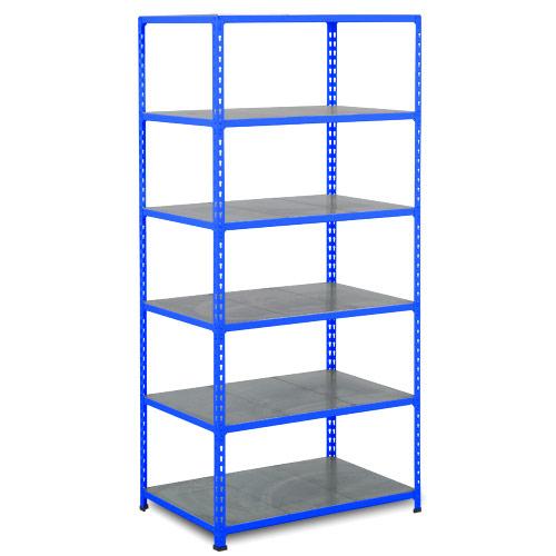 Rapid 2 Shelving (2440h x 915w) Blue - 6 Galvanized Shelves
