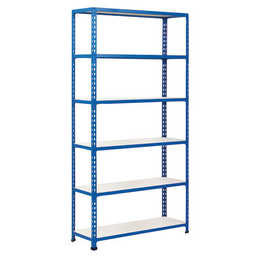 Rapid 2 Shelving (2440h x 915w) Blue - 6 Melamine Shelves
