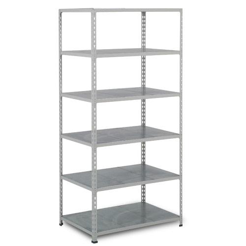Rapid 2 Shelving (2440h x 915w) Grey - 6 Galvanized Shelves