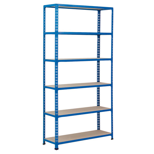 Rapid 2 Shelving (2440h x 1220w) Blue - 6 Chipboard Shelves