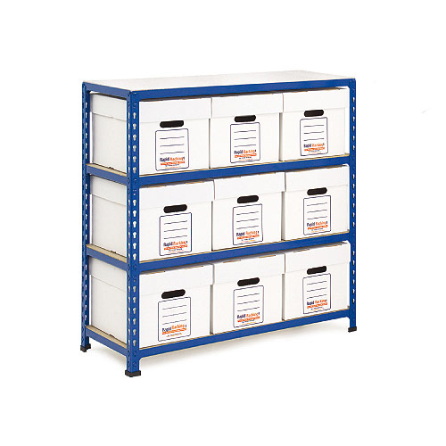 Rapid 2 Storage Bays (990h x 915w) 9 Economy Document Boxes
