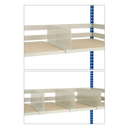 Shelf Dividers For Rapid 2 Bays - Grey