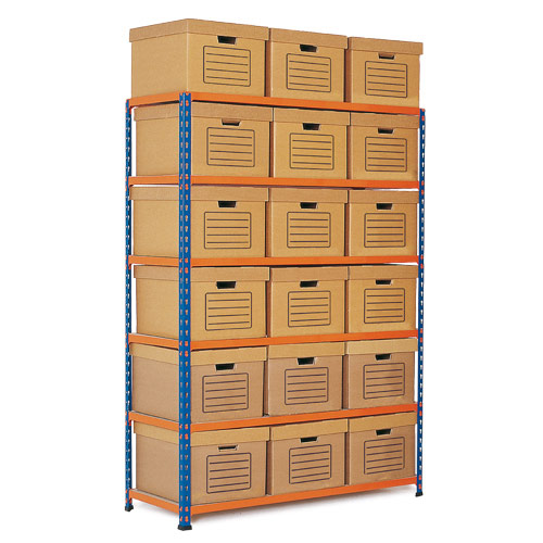 Rapid 2 Single Storage (1600h x 1120w) 18 Brown Document Boxes