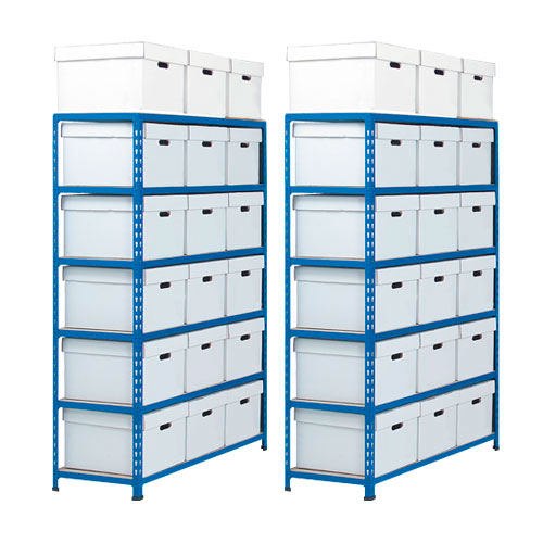 Two Rapid 2 Storage Bays (1600h x 1120w) 36 Document Boxes