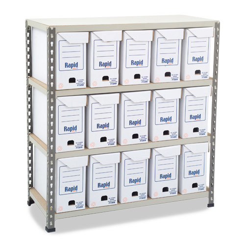 Rapid 2 (990h x 915w) Flip Top Storage Bays With 15 Boxes