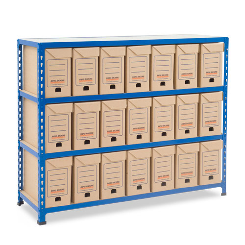 Rapid 2 (990h x 1220w) Flip Top Storage Bays With 21 Boxes