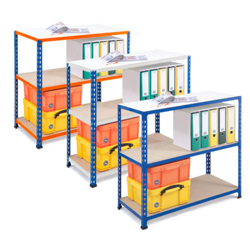 Rapid 2 Low Bay - (840h x 915w x 455d) -3 Bay Offer in Blue & Grey