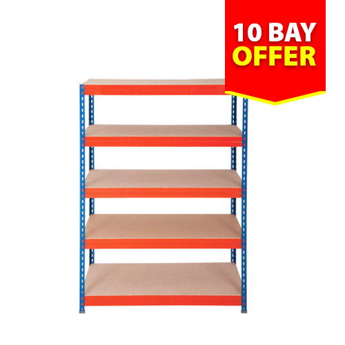 Rapid 3 Shelving 10 Bay Offer (1800h x 900w)