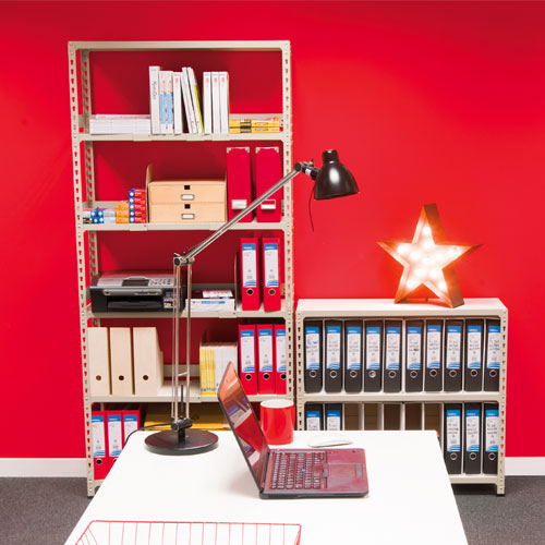 Rapid 2 Office Shelving with Back/Side Stops & Dividers
