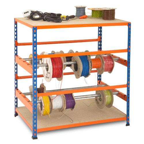 Rapid 2 Mini Reel Racks (990h x 915w) In Blue & Orange