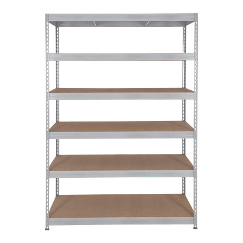 Rapid 3 Shelving (1600h x 900w) Galvanized - 6 Chipboard Shelves