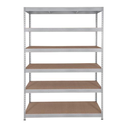 Rapid 3 Shelving (1600h x 900w) Galvanized - 6 Chipboard Shelves