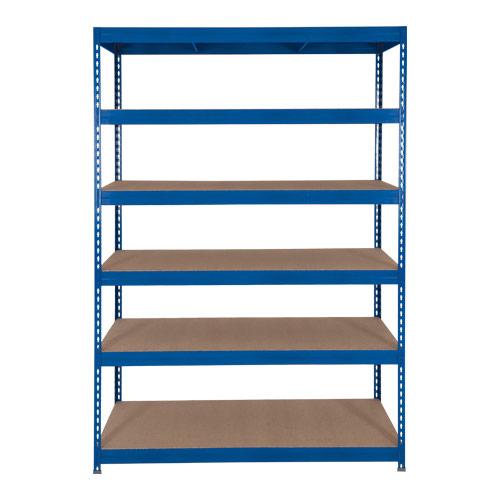 Rapid 3 Shelving (1600h x 1200w) Blue - 6 Chipboard Shelves