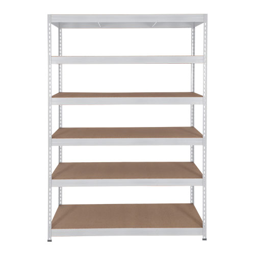 Rapid 3 Shelving (1600h x 1200w) Grey - 6 Chipboard Shelves