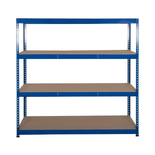 Rapid 3 Shelving (1600h x 1500w) Blue - 4 Chipboard Shelves