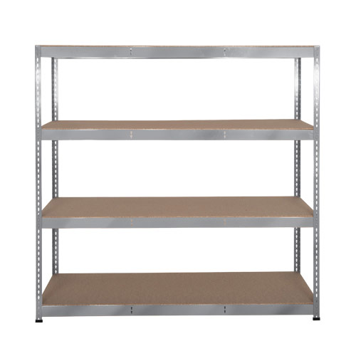 Rapid 3 Shelving (1600h x 1500w) Galvanized - 4 Chipboard Shelves