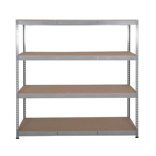 Rapid 3 Shelving (1600h x 1500w) Grey - 4 Chipboard Shelves