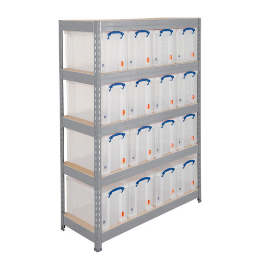 Rapid 3 Shelving (1800h x 900w) Grey - 5 Chipboard Shelves
