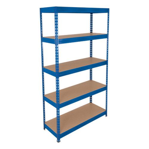 Rapid 3 Shelving (1800h x 1500w) Blue - 5 Chipboard Shelves