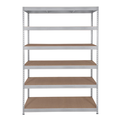 Rapid 3 Shelving (1800h x 1500w) Galvanized - 6 Chipboard Shelves