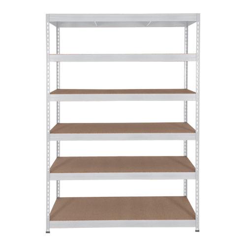 Rapid 3 Shelving (2000h x 1500w) Grey - 6 Chipboard Shelves