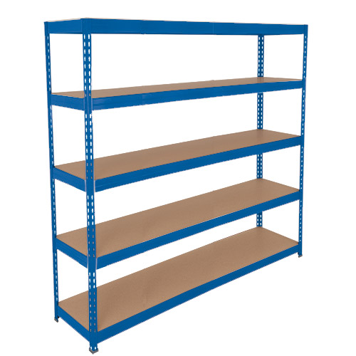 Rapid 3 Shelving (2000h x 2100w) Blue - 5 Chipboard Shelves