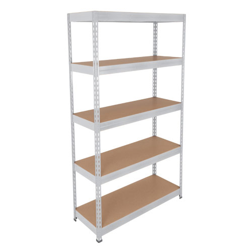 Rapid 3 Shelving (2200h x 900w) Galvanized - 5 Chipboard Shelves