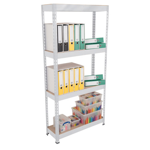 Rapid 3 Shelving (2400h x 900w) Galvanized - 4 Chipboard Shelves