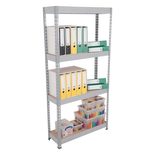 Rapid 3 Shelving (2500h x 2400w) Grey - 4 Chipboard Shelves