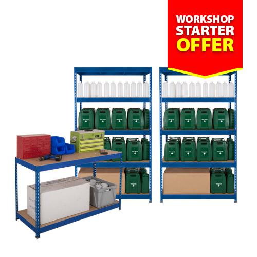 Rapid 3 Workshop Starter Offer - 2 Bays and Workbench