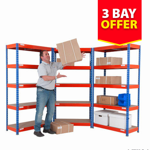 Rapid 3 Shelving Three Bay Offer (1800h x 900w)