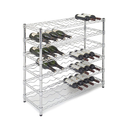 Chrome Wine Rack (965h x 915w) For 54 Bottles
