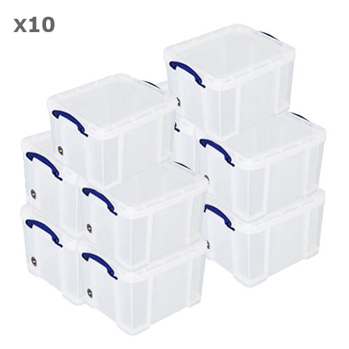 Pack Of 10 Really Useful Boxes - 35 Litre
