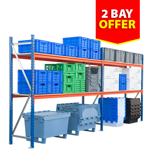 Rapid Span Shelving (2000h x 3928w) - 2 Bay Offer