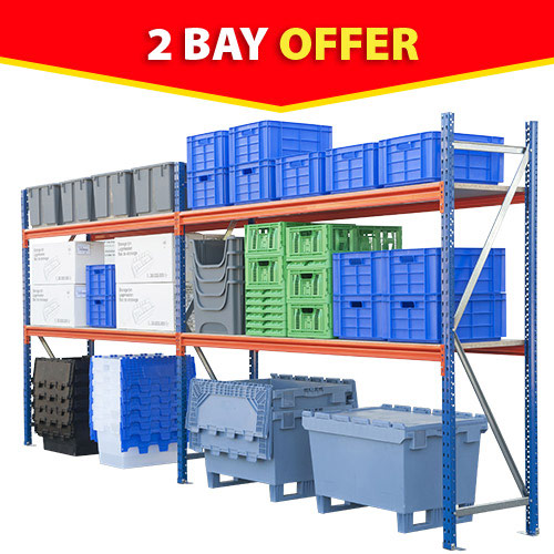 Rapid Span Shelving (2000h x 4728w) - 2 Bay Offer